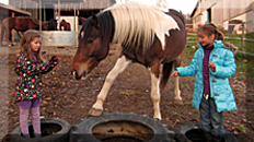Motopädagogik mit Pferden für Kinder